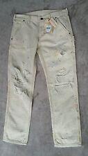 Ralph Lauren Denim Supply Womens Faircrest Jeans destroy CROP 27x27 Paint Splat