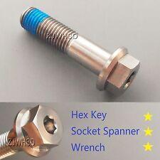 M12 x 1.5 x 50 Titanium Ti Screw Bolt Socket Cap Hexagon Hex Flange Head +Blue