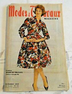 Magazine Modes & Travaux Octobre  1959 complet