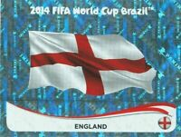 Panini WM 2014 298 England World Cup 14 Wappen Logo Glitzer Badge Foil