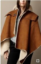 Burberry Brit Brown Suede & Shearling Cape Poncho NWT Medium