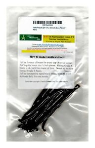 "10 Tahitian Near Gourmet Grade A/B Vanilla Beans grown in Papua New Guinea 4~5"""