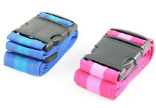 2x Koffergurt blau/pink  Länge 1,8m  Kofferband Gepäckband  2er SET Luggage Belt