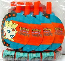 VINTAGE POKEMON BLOWOUTS (8) ~ Rare Birthday Party Supplies Favors Togepi Paper