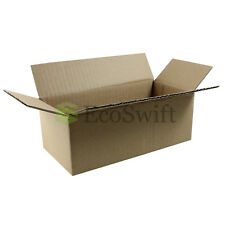 50 8x4x3 Cardboard Packing Mailing Moving Shipping Boxes Corrugated Box Cartons