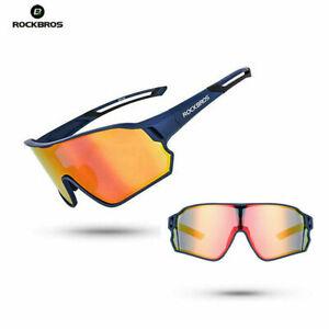 ROCKBROS Cycling Bicycle Sunglasses Polarized UV400 Glasses Bike Goggles Blue