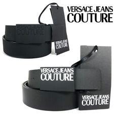 Cintura VERSACE Uomo Pelle nero Jeans Couture Elegante Causal Originale 2020