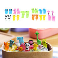 10Pcs Animal Farm Cartoon Fruit Fork Sign Resin Fruit Toothpick For Kids Sign JD
