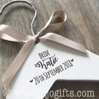 Personalised engraved dress coat hangers for wedding party bride hanger