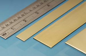 Albion Alloys BRASS STRIP 305mm length full range of sizes Precision Metal