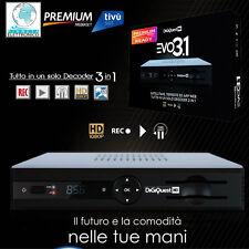 DECODER FULL HD PVR COMBO SAT DVBT PVR MEDIASET PREMIUM TERRESTRE EVO 3 IN 1 ALL