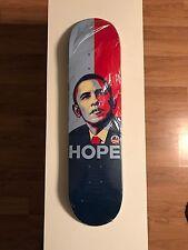 Rare President Obama Skateboard Deck HOPE Cease&Desist Shepaird Obey Blind World