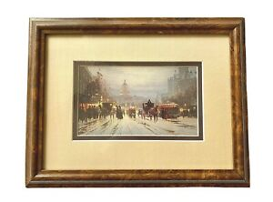 G Harvey Print Pennsylvania Avenue Vintage Framed Excellent Retro Art Deal