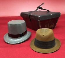Vintage Dobbs lot of 2 hat Salesman Samples miniature with Box Fifth Avenue old