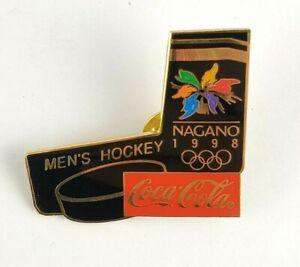 Nagano 1998 Olympic Games Men's Hockey Coca-Cola Pin Badge