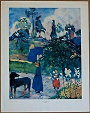 Gauguin Paysage de Bretagne 1s Printing Out of Print Ltd. Ed Original 1960 Litho