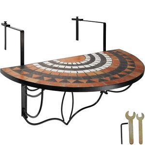 Table de balcon mosaïque pliante Rabattable Table suspendue Murale Terre-Blanc