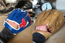 Lot 2 gants de baseball NYLON STICHED special VINYL, main gauche TBE
