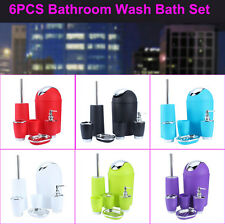 Bathroom Bath Accessory 6 Piece Set Soap Toothbrush Holders Dispenser Tumbler US