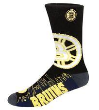 Boston Bruins  Mens Light Bright Skyline Crew Socks Large LG size 10-13  RARE