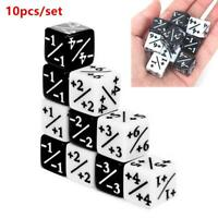 10pcs/set Counters Counting +1/+1 Dice For Magic the Gathering Game Kids Toy