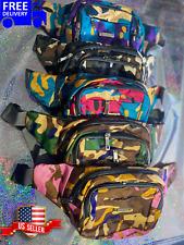 Fanny Pack Bold Camo Waist Belt Bag Purse Bum Hip Hop Pouch Pocket Travel US