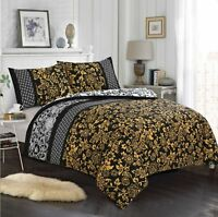 Luxury 100% Egyptian Cotton Printed Duvet Cover Sets Bedding Sets+Fitted Sheets