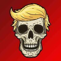 Donald Trump Skull Vinyl Decal Sticker MAGA 2020 President Republican Gun Funny