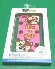 NEW DISNEY PARKS CHIP AND DALE IPHONE  5/5S PINK CELLPHONE CASE