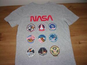GAP - Grey Short Sleeve T-Shirt - NASA Design- Age  6-7  Years