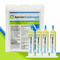 Syngenta Advion Cockroach Gel Bait Roach 4 Tubes with Tips and Plunger