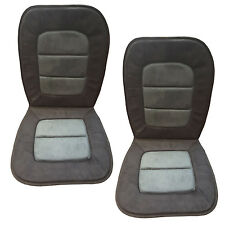 2PC Uiniversal Black Ultra Suede Car/Truck seat cushions