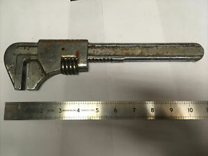 Vintage Drop Forged Chrome Plated Adjustable Pipe Wrench-Poor Condition