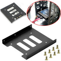 "2.5"" SSD HDD to 3.5"" Mounting Adapter Bracket Tray Dock for PC SSD Holder B uW"