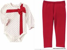 NEW GYMBOREE Holiday Shop Gift Top with  Lined Leggings Outfit SIZE 18-24 MONTHS