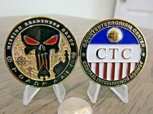 Counterterroism Center Mission Readiness Punisher CIA CT CTC Challenge Coin