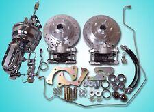 1965-1968 chevrolet impala 4 wheel disc brake conversion power chrome booster