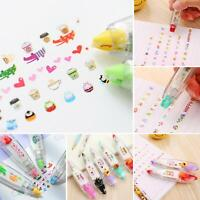HK- Cute Print Press Correction Tape Diary Scrapbooking Decorative Pen Diary Dec