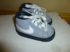 "NIKE GRAY ""SWOOSH"" MID-TOP BASKETBALL Shoes Toddler SZ 4"
