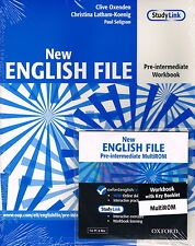 Oxford NEW ENGLISH FILE Pre-Intermediate Workbook with Key & MultiROM @New@