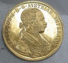 1915 AUSTRIAN DUCAT 4 GOLD COIN   UNC