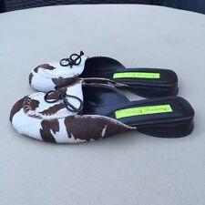 Materia Prima by Goffredo Fantini Leather Mules, Size 37 EU/ 7 US