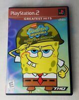 SpongeBob SquarePants: Battle for Bikini Bottom (PlayStation 2, 2003) CIB Tested