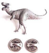 Tyranosaurus Rex Dinosaur Handcrafted in Solid Pewter In UK Lapel Pin Badge