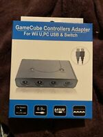 NEW - GameCube Controller Adapter 4 port for Nintendo Switch Wii U & PC USB