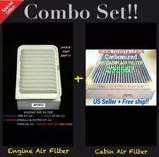 Engine&Carbonized Cabin Air Filter  09-16 Corolla Matrix Vibe xD 06-16 Yaris