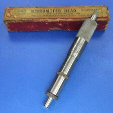 Old Starrett 263 Micrometer Head In Original Maroon Box 1 X 001 Machinist