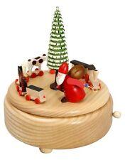 Carillon natura Treno di ruprecht 15,5 cm carillon NUOVO Natale Seiffen