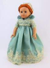 "Doll Clothes Dress Royal English Queen Court Mint Gold For 18"" American Girl"