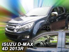 mit ABE Tiefschwarz Climair Windabweiser Isuzu D-Max Pick Up ATFR//ATFS ab 2012